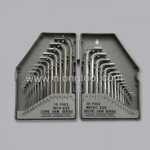 30-PCS Hex Key Sets surface by Chromeplate packaged by BMC