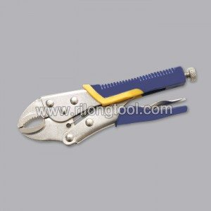 10″ Backhand Round-Jaw Locking Pliers with Jackets