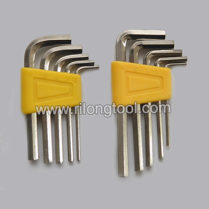 5-PCS Hex Key Sets packaged by plastic frame