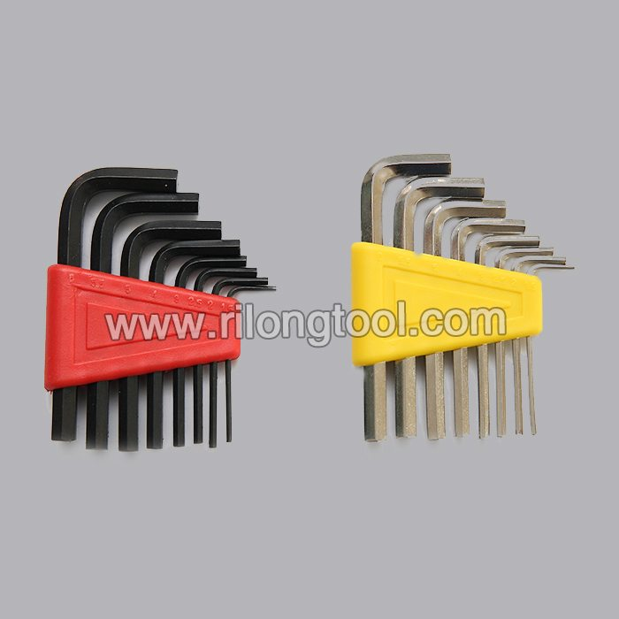 8-PCS Short Hex Key Sets packaged by plastic frame