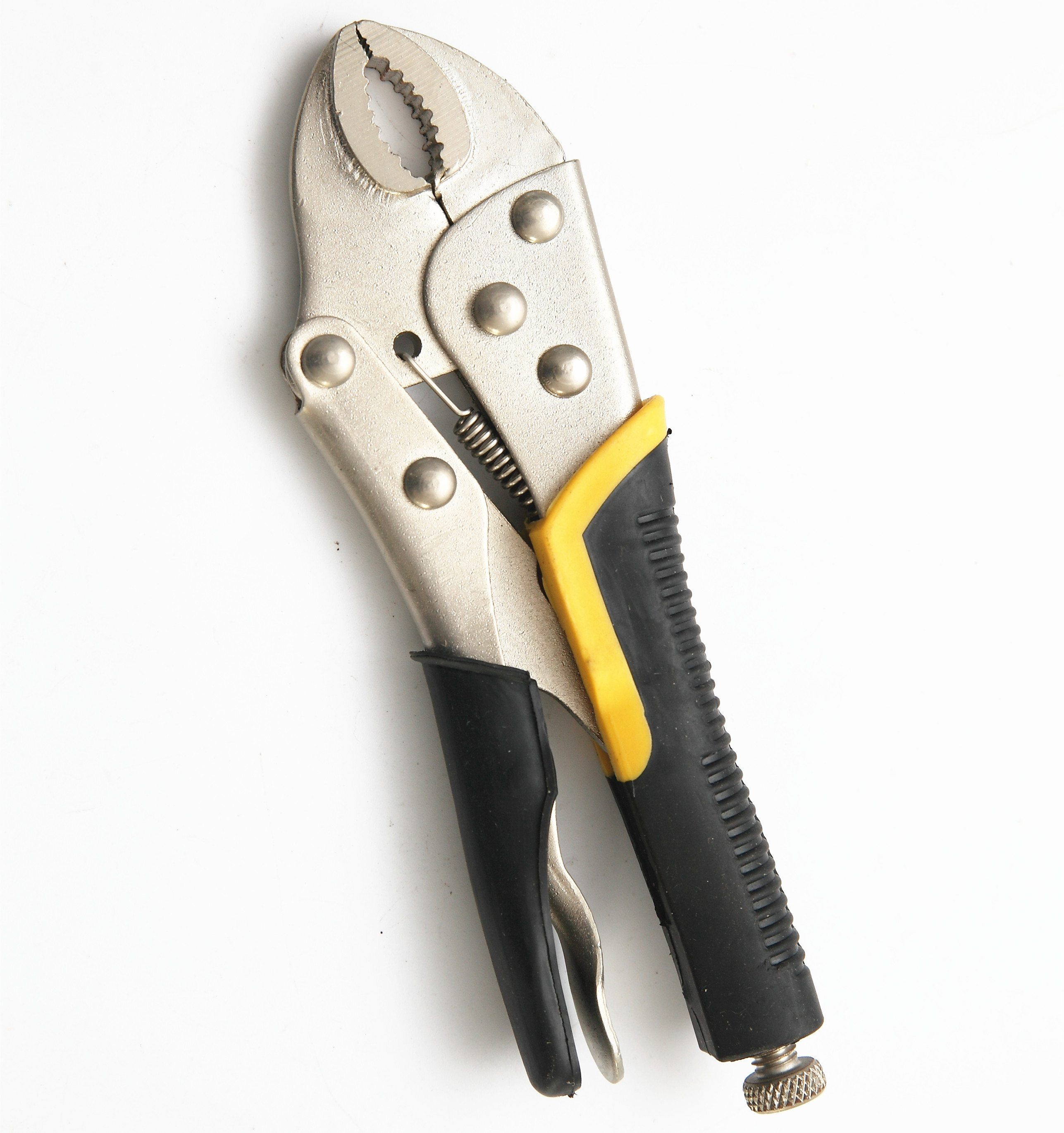 7″ Backhand Curved Jaw Locking Pliers with Jackets