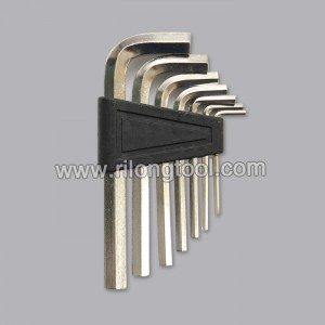 7-PCS Hex Key Sets packaged by plastic frame