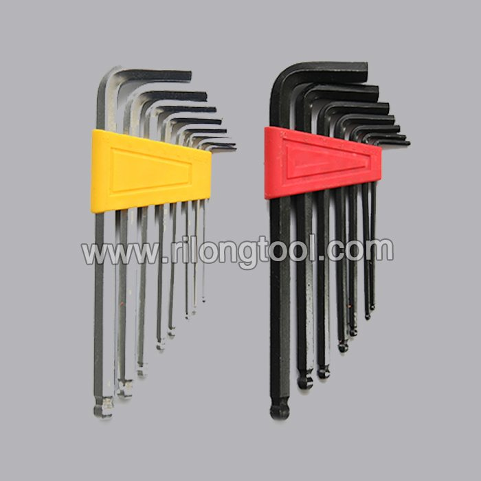 8-PCS Ball-point Hex Key Sets packaged by plastic frame
