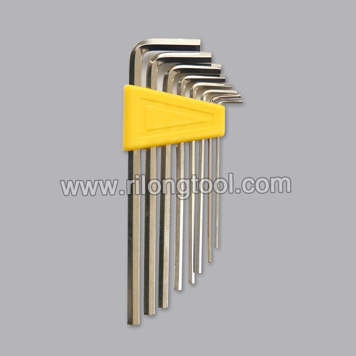 8-PCS Long Hex Key Sets packaged by plastic frame