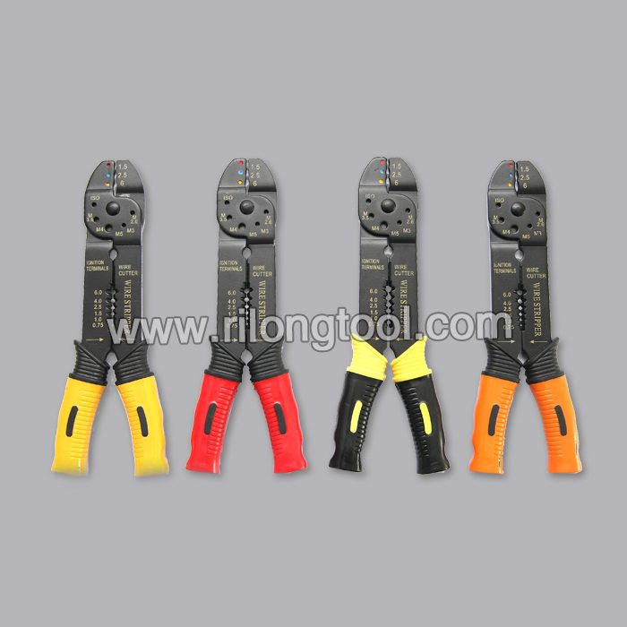 Wire Strippers & Cable Cutters with double colors handle