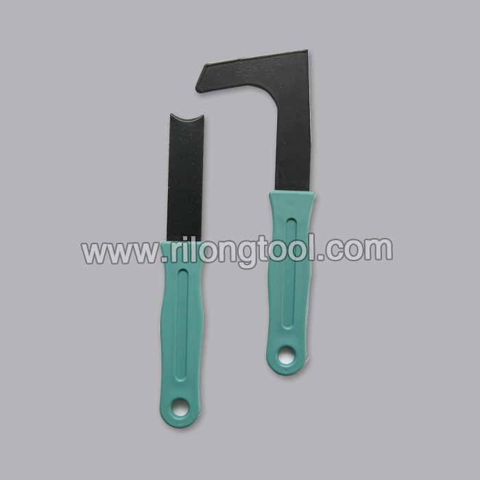 L-shape and Direct-shape Hay Knife with green handle