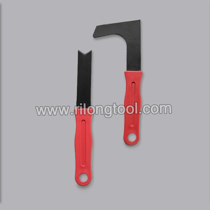 L-shape and Direct-shape Hay Knife with red handle
